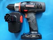 Craftsman 14.4v Cordless 3/8 Drill Driver Black 315.115390 With Battery