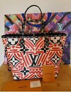 New Louis Vuitton Lv Crafty Capsule Neverfull Mm Cream Red Limited Edition Bag