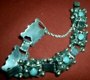 Vintage Taxco 925 Mexican Silver Bracelet With Tourquoise