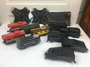 Mar Train Lot Of Metal And Plastic Toy With Some Tracks Bin 5