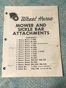 Wheel Horse Original Parts Manual Rotary Mower And Sickle Bar See List Of Models