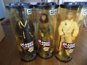 Lot Vtg Planet Of The Apes Taylor Zira Gorella New Rotating Stand Action Figure