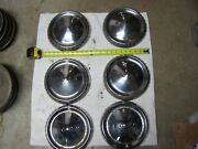 Vintage Ford Bottle Cap Hubcaps 1950and039s. Set Of 6