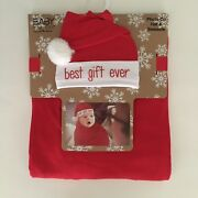New Baby Swaddle Wrap Cocoon Blanket And Andldquobest Gift Everandrdquo Hat Gift Set 0-3m