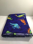 Dinosaurs Cranston Collection Colorful On Dark Tonal Blue Fabric 7 Yds X 45andrdquo
