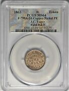 R.10 Springfield Illinois Yager Civil War Store Card Token Il 795a-2d Pcgs Ms64