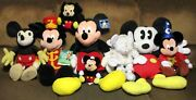 Mickey Mouse Large Plush Doll Lot 8 Different 7 1/2 -- 27 Tall  Nice