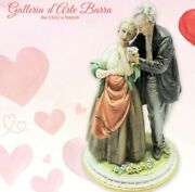 Porcelain Capodimonte. Coppia. L'amore. The Heart Not Ages, Anniversary