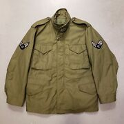 Vtg 60s Vietnam Us Army Military M-65 Field Coat Jacket W Airforce Patch M Clean