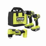 Ryobi Combo Tool Kit Drill 18-volt Cordless Brushless Battery Charger 3-pieces