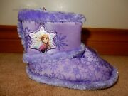 Kids Frozen Slippers Indoor Boots Choose Size Brand New Free Usps Shipping