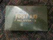 Vintage Bell System - D Pacific Telephone Workers Metal Box First Aid Kit