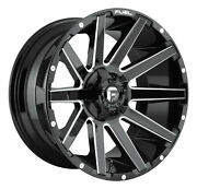 20x9 D616 Fuel Contra Black Wheels Rim 33 At Tires Package 5x5 Jeep Cherokee