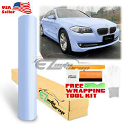 Premium Super Gloss Glossy Frosted Blue Car Vinyl Wrap Sticker Decal Air Release