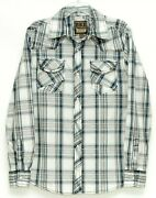 Bke Mens Athletic Fit Pearl Snap Long Sleeve Plaid Western Shirt Size M