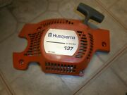 Husqvarna 137 Chainsaw Recoil Starter Pull Rope Side Cover E Series