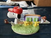 """Golfer Gift Snoopy Golfing Limited Edition And Numbered Figurine """"on The Course"""""""