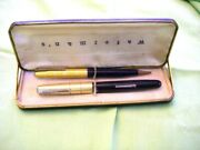 Vintage Watermanand039s Fountain Pen And Mechanical Pencil Set + Box 2 Of 2