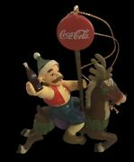 1998 Coca Cola Christmas Trim A Tree Collection Ornament Man On Carousel