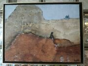1971 Ruth Kochta Intimate Abstract Oil Painting A Boyand039s Dream New York Art