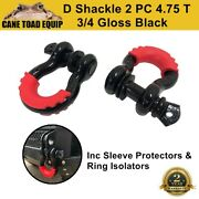 D Shackle Wll 4.75 Ton Rated 20mm 4wd Recovery Tow Car Trailer 2pcs Caravan