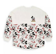 Disney Mickey Mouse Holiday Cheer Spirit Jersey For Adults White Size Xs