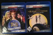 Nightmare Before Christmas + Hocus Pocus Bluray+dvd Collection Lot