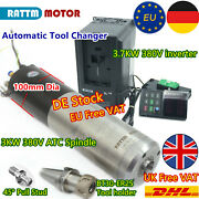 3kw 380v Atc Water Cooled Spindle Motor Automatic Tool Change Bt30+3.7kw Vfd「de」