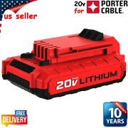 New For Porter Cable Pcc681l Pack 20v 20 Volt Max Lithium-ion Battery Pcc685l Us