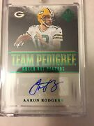 Aaron Rodgers 2017 Majestic Football Auto True 1/1 Green Bay Packers