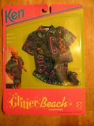 1992 Nos New Old Stock In Box Vintage Toy Doll Clothes Ken Barbie Beach Fashion