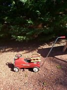 Vintage Radio Flyer Metal Red Ride-on Fire Engine No 9 Model 909 With Push Bar