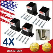 4x Fence Post Mount Concrete Brackets With Black Powder Coated For 4x4 Wood Bolt