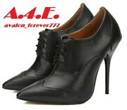 Hey Si Mey Unisex Oxford High Heel Dress Shoes. Size 46. 12 Mens Or 13.5 Womens.