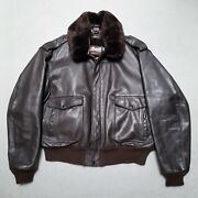 Bnwot Schott Perfecto Brown Leather Bomber Jacket W Liner Sz 50 Made In Usa 900