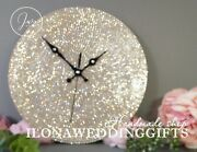 Bling Sparkle Strass Unique Clock Luxury Exclusive Wedding Gift Gatsby