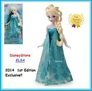 Disney Store Authentic Frozen Elsa Classic Collection 12 Doll 1st Exclusive New