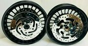 Harley Davidson Gloss Black Touring Street Glide Wheels W/rotors 09-17 Outright