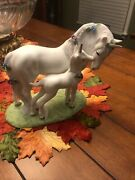 Love's Devotion Mother And Baby Unicorn Porcelain Figurine Princeton Gallery 1990