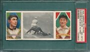 1912 T202 Scrambling Back To First, Chase And Wolter, Psa 8 Nm-mt, Pop 5, 0 Higher