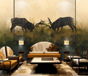 3d Reindeer Self-adhesive Removeable Wallpaper Wall Mural Sticker 147