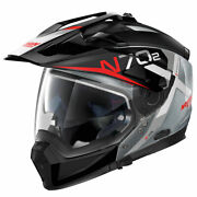 Helmet Crossover Integral Modular Motorcycle N70-2 X Bungee Scratched Chrome 40