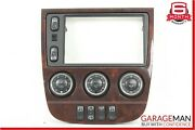02-05 Mercedes W163 Ml320 Center Console Ac A/c Heater Switch Trim Assembly Wood