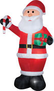 Airblown Santa Gift Candy Cane Inflatable12 Ft Tall