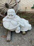 Beautiful Carved Stone Exterior Or Interior Laying Buddha - Jd66