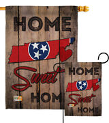 State Tennessee Home Sweet Garden Flag States Regional Gift Yard House Banner