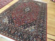 5x7 Wool Traditional Oriental Area Rug Navy Red Blue Gorgeous
