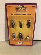 Mth Railking 30-11048 6-piece Figure Set 4, Bus Station Employees And Patrons