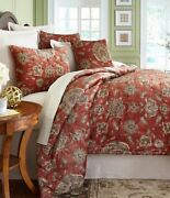 New Southern Living Seville Full/queen 3 Piece Comforter Set Floral Multi