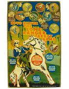Louis Marx And Co Ny 1938 And039hi-yo Silver The Lone Ranger Target Gameand039 Lithoand039d Tin